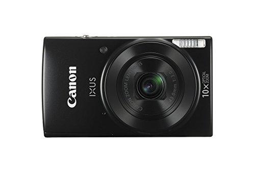 Canon IXUS 190 Digitalkamera (20 Megapixel, 10x optischer Zoom, 6,8 cm (2,7 Zoll) LCD Display, WLAN, NFC, HD Movies) schwarz