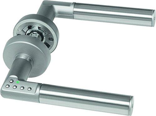 ASSA ABLOY digitaler Türbeschlag Code Handle DIN Rechts - Zimmertürbeschlag mit PIN-Code - Silber