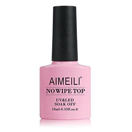 AIMEILI No Wipe Top Coat Überlack UV LED Gellack Gel Nagellack Gel Polish - 10ml