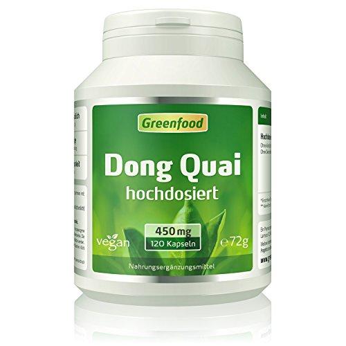 Greenfood Dong Quai, 450mg, hochdosiert, 120 Kapseln