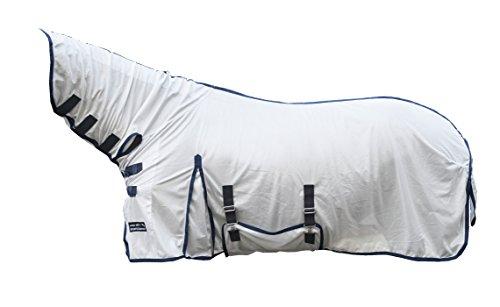 HKM Sports Equipment HKM Fliegendecke -Lyon- mit Halsteil, silber, 155