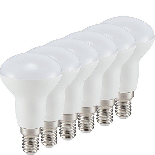 MÜLLER-LICHT 400071 A+, 6er-Set LED Reflektorlampe Essentials ersetzt 40 W, Plastik, E14, weiß, 5.0 x 5.0 x 8.6 cm