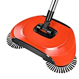 Surenhap Hand Push Handkehrmaschine Magic Broom Dustpan mit Stainless Steel Sweeping Broom Handle Household Cleaning Sweeper Mop