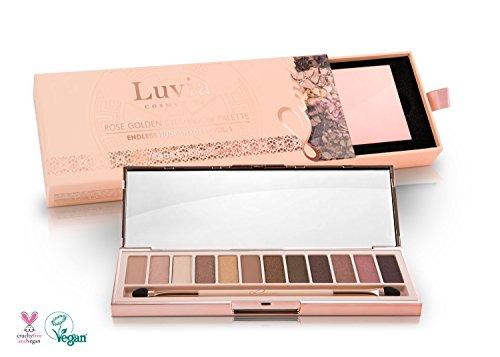 """Luvia Cosmetics - Profi Lidschatten Palette """"Endless Nude Eyeshadow Palette"""" Inkl. 12 Matten & Warmen Schimmer Tönen - Limitierte Geschenkbox"""