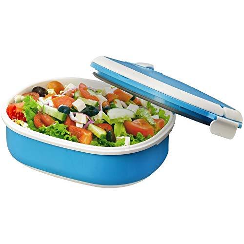 Styletec Lunchbox/Brotdose mit Schnappverschluss - luftdicht + microwellengeeignet (blau)