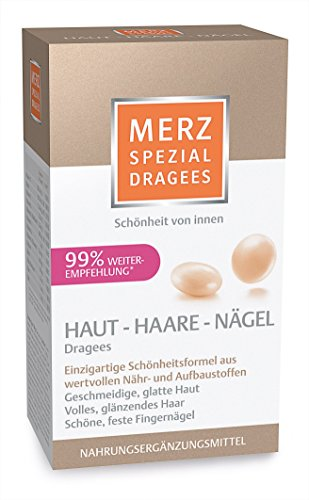 Merz Spezial Dragees Haut Haare Nägel - Nährstoffe für geschmeidige, glatte Haut, volles glänzendes Haar und schöne, feste Fingernägel, 120 Stück für 2 Monate