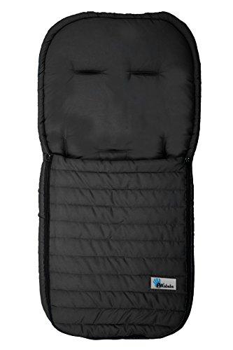 AltaBebe AL2200M-02 - Sommerfußsack aus Microfaser für alle gängigen Sportwagen, Buggys und Jogger. Farbe schwarz