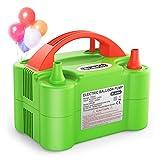 Dr.meter Ballon-Luftpumpe, Elektrische Luftballonpumpe mit Doppeldüse Inflatorgebläse Tragbare Pumpe für Party, Hochzeit, Geburtstag, Werbemaßnahmen und Festivaldekoration