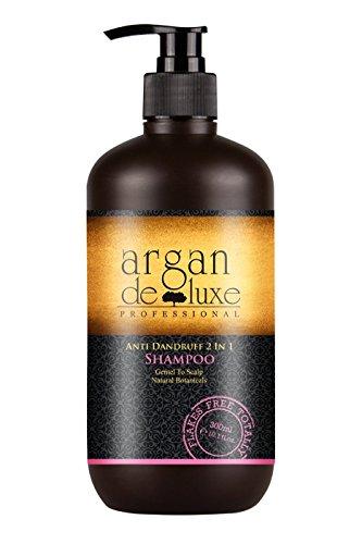 Arganöl Anti-Schuppen Shampoo in Friseur-Qualität  Hochwirksam, Getestet, Intensiv Pflegend  Argan DeLuxe, 300ml