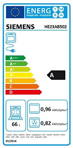 Siemens EQ231EK02 Einbau-Herd-Kochfeld-Kombination / A / Kochfeld: Ceran/Glaskeramik / Herdfarbe: Edelstahl / 3D-Heißluft Plus / Automatische Schnellaufheizung / Elektronik-Uhr inkl. Timer