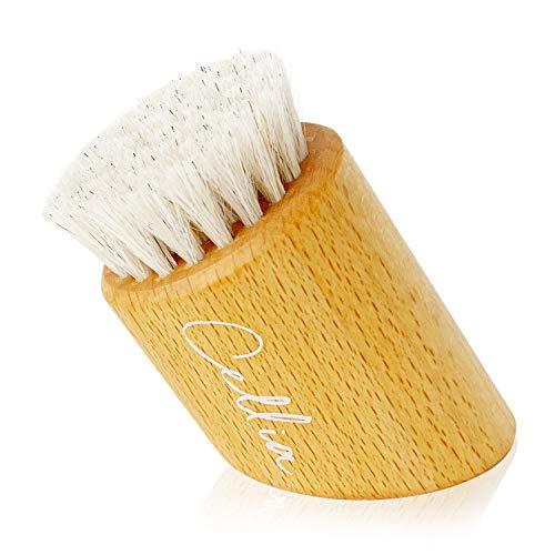 CELLIA Gesichts-Bürste zur Trockenbürsten-Massage und Peeling 100% Natur-Borsten | regionales, FSC-zertifiziertes Buchen-Holz | dry brush face |Trocken-Bürste Gesicht| hergestellt in DE