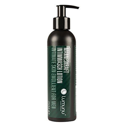 Deluxe Intim Waschlotion für Ihn MANNESKRAFT (250ml), sanft reinigendes & pflegendes Duschgel, Intimgel für Männer mit Frische-Duft