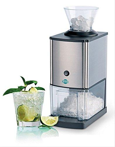 BETEC 4051 NEU Gastro Ice Crusher elektrisch • Eiscrusher • Eiszerkleinerer elektrisch • 15 kg/h • 3,5 Liter Eisbehälter • Edelstahlgehäuse • verstärktes Getriebe und Motor