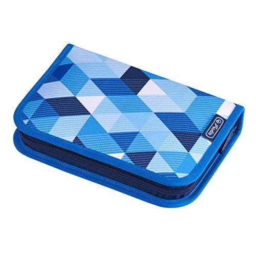 herlitz 50021031 Schüleretui Blue Cubes, 31-teilig, 1 Stück