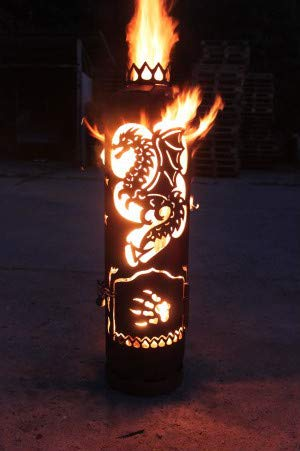 Feuerstelle Feuertonne Drache