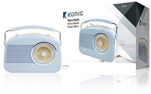 König HAV-TR710BU Retro-Design AM/FM-Radio blau