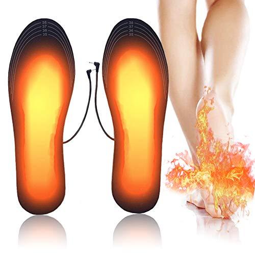 PINPOXE Fußwärmer, Sohlenwärmer, Wärmesohle,Schuhheizung, Beheizbare Thermosohle, Beheizbare Einlegesohlen Thermosohlen, 3 Warmstufen, Größe: 40-44 zuschneidbar, waschbar