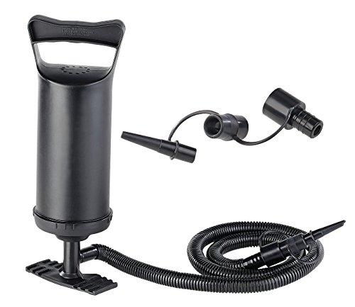 PEARL Ballpumpe: Doppelhub-Hand-Luftpumpe mit 4 Auslass-Düsen, 2x 0,7 l Pumpleistung (Pumpen)
