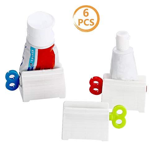 Bigbigjk 6 Stück Tubenquetscher Tubenausdrücker, Squeezer Tubenpresse Zahnpastaspender Quetscher Tubenpresse Set für Zahnpasta Haarfarbe Farben Kosmetik