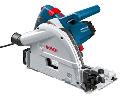 Bosch Professional Tauchsäge GKT 55 GCE, Kreissägeblatt Best for Wood, 1400 Watt-Motor, 165 mm Saägeblattdurchmesser, L-Boxx, 1 Stück, 0601675001