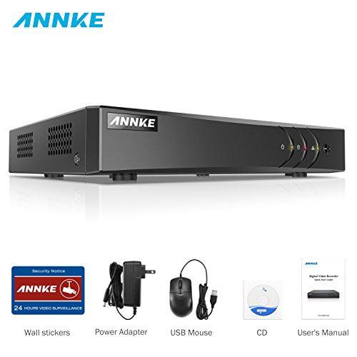 ANNKE 1080P Lite DVR Recorder, 5 IN 1 Digital Video Recorder H.264+ für Videoüberwachung, Bewegungserkennung, Online-Fernzugriff (4CH)