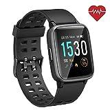SmartWatch für Android iOS Phone 2019 Version IP68 Wasserdicht, ANGGO Fitness Tracker Uhr mit Schrittzähler Pulsmesser Schlaf Tracker, Sportuhr Kompatibel mit iPhone Samsung für Männer Frauen Kinder