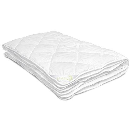 Beautissu Bettdecke BeauNuit JD Echte 4 Jahreszeiten Bettdecke 155x220 cm - aus 2 Steppdecken mit Knöpfen ÖKO-Tex in Verschiedenen Größen