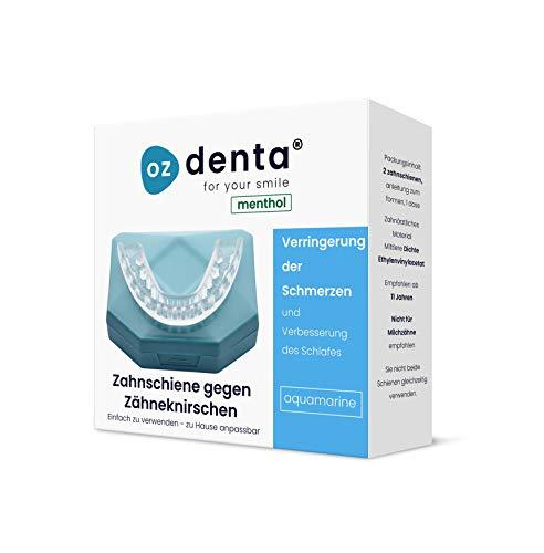 Aufbissschiene (2 Stk) inkl. Aufbewahrungsbox BPA frei Zahnschutz beim nächtlichen Zähneknirschen Knirscherschiene Zahnschiene (Menthol Aquamarine)