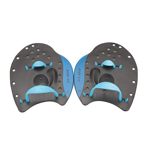 WINOMO Swim Paddle Hand Paddel für Trainng Schwimmen Anfänger Erwachsene Kinder Blau