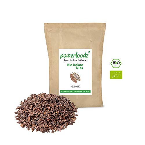 Powerfoodz - Bio Kakaonibs 1kg 100 Prozent Kakao Nibs
