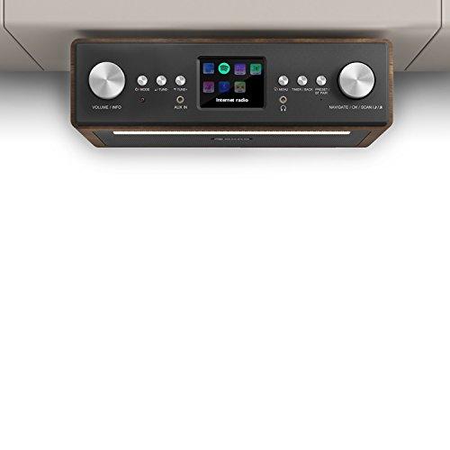 auna TESTURTEIL: SEHR GUT Connect Soundchef • Unterbau-Radio • Küchenradio • Unterbau-Digitalradio • DAB+ • UKW • 2 x 3-Boxen • WLAN • 10 Senderspeicherplätze • Fernbedienung • walnuss