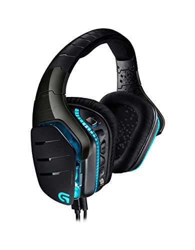 Logitech G633 Artemis Spectrum Pro Gaming Headset (7.1-Surround-Sound, 3,5-mm-Audioausgang, geeignet für PC, Xbox One und PS4) Schwarz/Blau