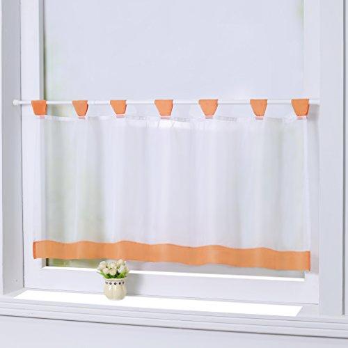 Joyswahl Bistrogardine Voile Schlaufen Scheibengardine 'Mia' Küchen Transparenter Vorhang