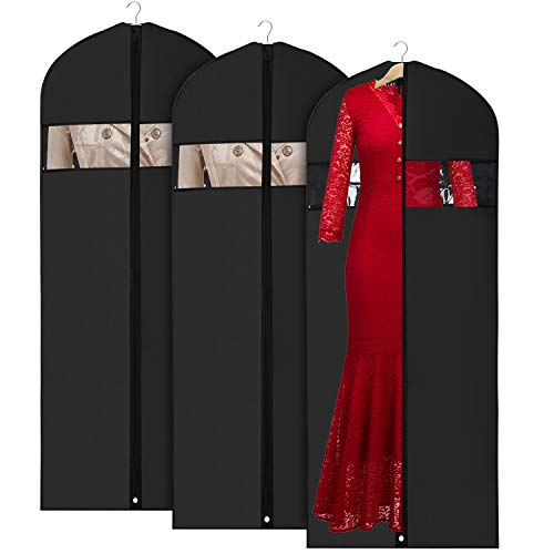 Oxford Stoff Kleidersack kleiderhülle Abdeckungen 152cm für Lagerung und Reise, Anti-Motten-Schutz, faltbar waschbar für langes Kleid Tanzkostüme Business Anzüge Kleider Mäntel