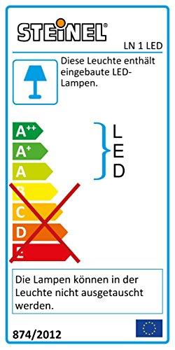 Steinel LED Außenleuchte LN 1 LED mit Dämmerungsschalter, LED Wandlampe inkl. Hausnummer, 4,5 W, 350 lm, Schlagfest IK07