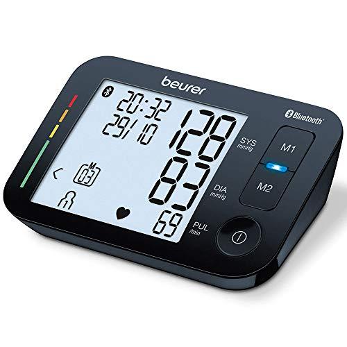 Beurer BM 54 Bluetooth Blutdruckmessgerät, mit kostenloser App, XL-Display, 2 x 60 Speicherplätze