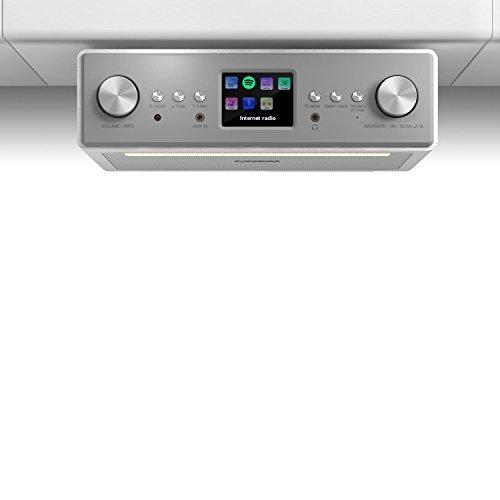 TESTURTEIL: SEHR GUT* auna Connect Soundchef • Unterbau-Radio • Küchenradio • Unterbau-Digitalradio • DAB+ • UKW • 2 x 3'-Boxen • USB-Port • 10 Senderspeicherplätze • Fernbedienung • weiß