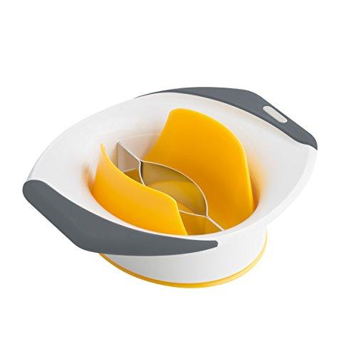 Zyliss - Mangoschneider - schält, entkernt und teilt die Mango in Sekunden. Die gezahnte und geformte Edelstahlklinge und der Halter sorgen für die einfache und saubere Zubereitung. Mit Soft-Touch Griff.