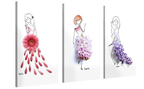 Premium Leinwanddruck 120x80 cm (3 x 80x40 cm) – Spring Dancers – XXL Kunstdruck Auf Leinwand Auf 2cm Holz-Keilrahmen – Handgemachte Fotoleinwand Für Wohn- Und Schlafzimmer Von Virgola Art X Gallery Of Innovative Art