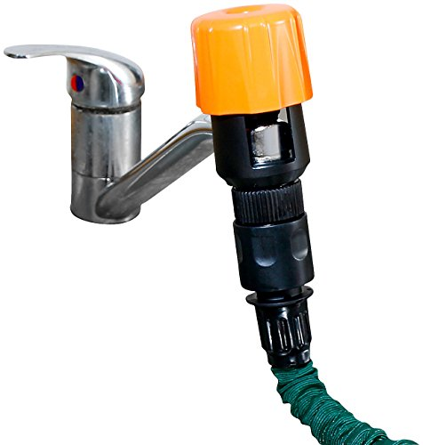 Royal Gardineer Wasserhahn Aufsatz: Universal-Wasserhahn-Adapter zum Anschluss von Gartenschläuchen (Schlauchanschluss)