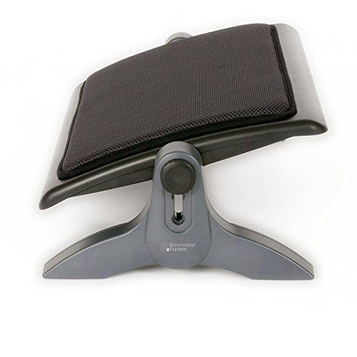 Büromöbel Experte  Fußstütze Gepolstert | Fußauflage für Büro | Ergonomische Fußablage - Schwarz höhenverstellbar & neigbar