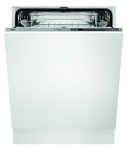 AEG FSB52600Z Geschirrspüler (vollintegriert) / A++ / Einbaugeschirrspüler mit Softspikes und Timer / sparsame Spülmaschine mit Programmautomatik und AirDry / weiß und grau