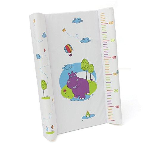Wickelplatte Wickelbrett Wickelauflage Unterlage für Bett Baby OKT Kids Hippo Motiv weiss