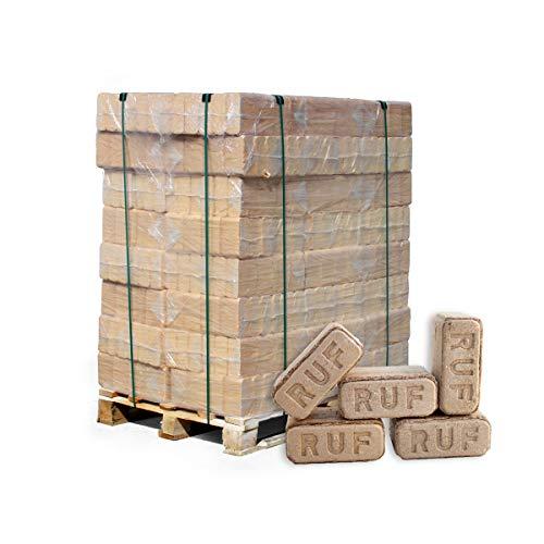 PALIGO Holzbriketts Ruf Hartholz Buche Eiche Kamin Ofen Brenn Holz Heiz Brikett 10kg x 96 Gebinde 960kg / 1 Palette Heizfuxx