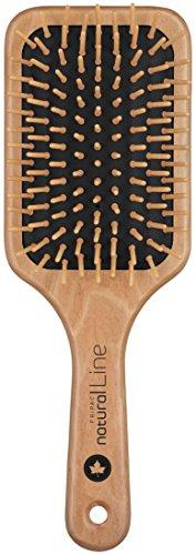 Natur-Haar-Bürste Holz Fripac-Medis Natural Line Paddle-Brush, 9-reihig,  zum täglichen Durchkämmen und Entwirren der Haare, abgerundete Borsten, antistatisch für lange und dicke Haare