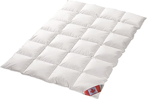 Canada Dreams Luxus extra warmes Winterbett Daunendecke Wärmegrad 5 Luxus Daunenflaum  (135x200 cm)