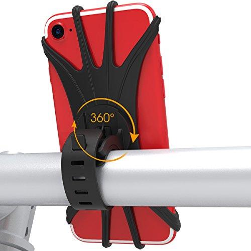 VUP Handyhalterung Fahrrad Smartphone Handyhalter Fahrrad Verstellbar für iPhone X/iPhone8 Plus/8/7Plus/6 Plus/6,GalaxyS8/S8Plus/S7 Edge, Note 8 5,Google Pixel