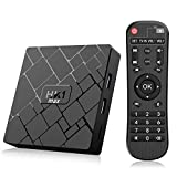Bqeel Android TV Box 【4GB+64GB】 Android 8.1 TV Box HK1 MAX mit RK3328 Quad-Core 64bit Cortex-A53 /【 Wi-FI 2.4G+5G】 802.11 b/g/n Gigabit/ 4K HD Android Box Smart TV Box