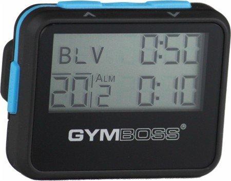 Gymboss Intervall-Timer und Stoppuhr–Soft schwarz/blau.
