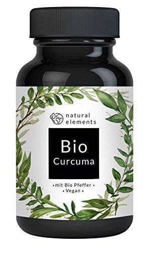 Bio Curcuma (Kurkuma) - Laborgeprüft - 180 vegane Kapseln mit Curcumin und Piperin aus Bio schwarzem Pfeffer – Ohne Zusätze – Hochdosiert und hergestellt in Deutschland